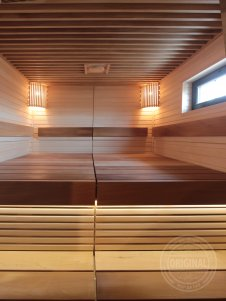009 sauna ribbed ceiling