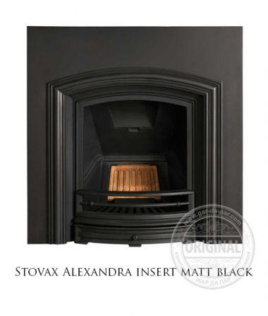 Каминная вставка Stovax Alexandra insert matt black