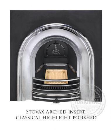 Каминная вставка Stovax Arched insert classical highlight polished