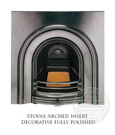Каминная вставка Stovax Arched insert decorative fully polished