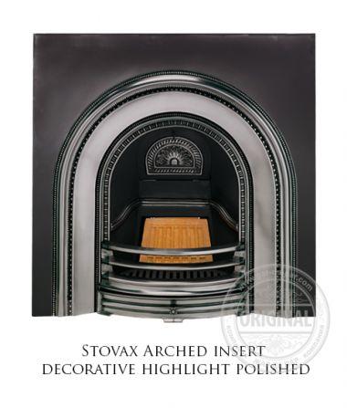Каминная вставка Stovax Arched insert decorative highlight polished