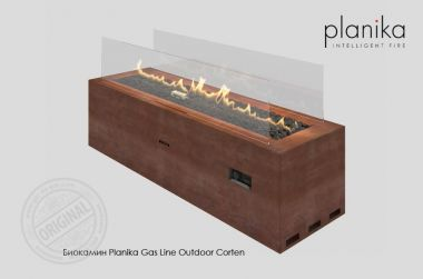 Биокамин Planika Gas Line Outdoor Corten