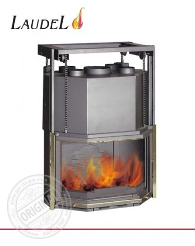 Каминная топка Laudel 850 Prismatique Relevable с кожухом разводки тепла