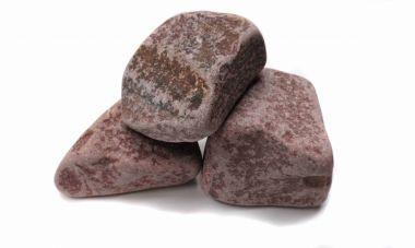 Камни для бани - малиновый кварцит, обвалованный