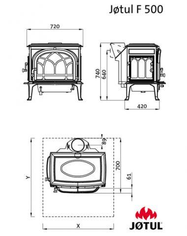 Печь-камин Jotul F 500 BP