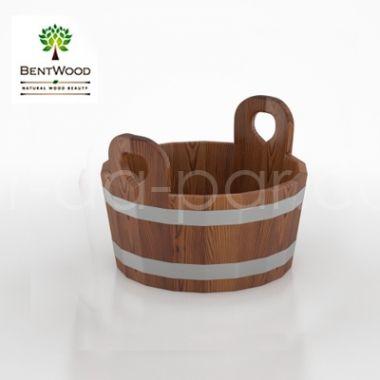 Шайка для бани из лиственницы мореной, 15 л