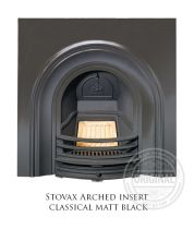 Каминная вставка Stovax Arched insert classical matt black