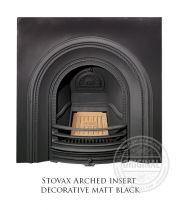 Каминная вставка Stovax Arched insert decorative matt black