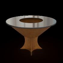 Дизайнерский мангал AHOS Olympic 1000 low rust