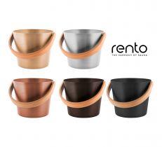 Ведро для бани Rento алюминий с бамбуковой ручкой