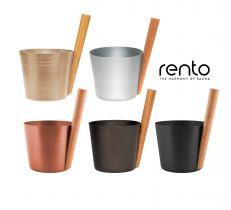 Шайка Rento из алюминия с бамбуковой ручкой