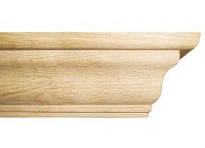 Балка каминная №1 Браво - дубовая лакированная