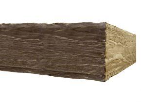 Балка каминная №2 Браво - дубовая лакированная