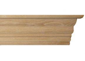 Балка каминная №4 Браво - дубовая лакированная