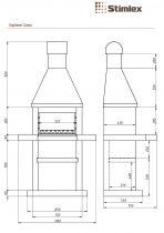 Барбекю со столом Stimlex Steel гранит Покостовский (пристенное)