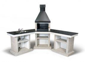 Барбекю со столом Stimlex Crasia гранит Лабрадорит (угловое)