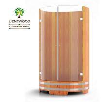 Душевая кабина Bentwood из лиственницы со стеклянными дверцами
