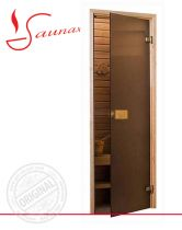 Двери для сауны Saunax Classic бронза матовые
