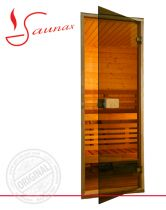 Двери для сауны Saunax Classic бронза прозрачные