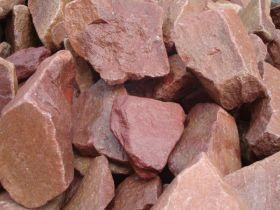 Камни для бани - малиновый кварцит, колотый
