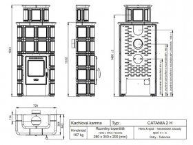 Печь-камин Hein Catania 2 H
