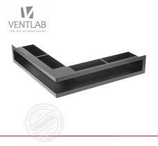 Решетка для камина Ventlab Open угловая с рамкой в разных размерах и цветах