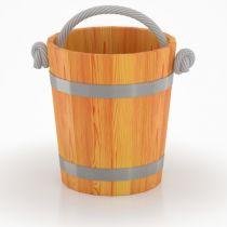 Ведро для бани из лиственницы, 15 л