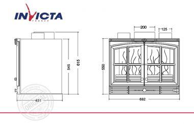 Топка каминная Invicta 700 Double Porte Turbo