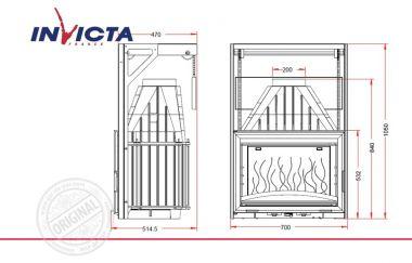 Топка каминная Invicta 700 Grande Vision Relevable с пружинным механизмом