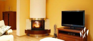Топка каминная цельнолитая Perfekt 16 kW Lux wood and coal