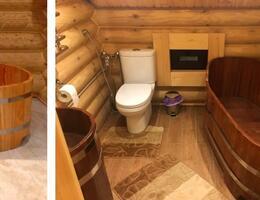 Bentwood для ванных комнат в эко-домах. Деревянные душевые, ванны, умывальники.