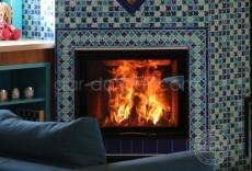 011. Каминная топка Austroflamm в марокканской мозаике